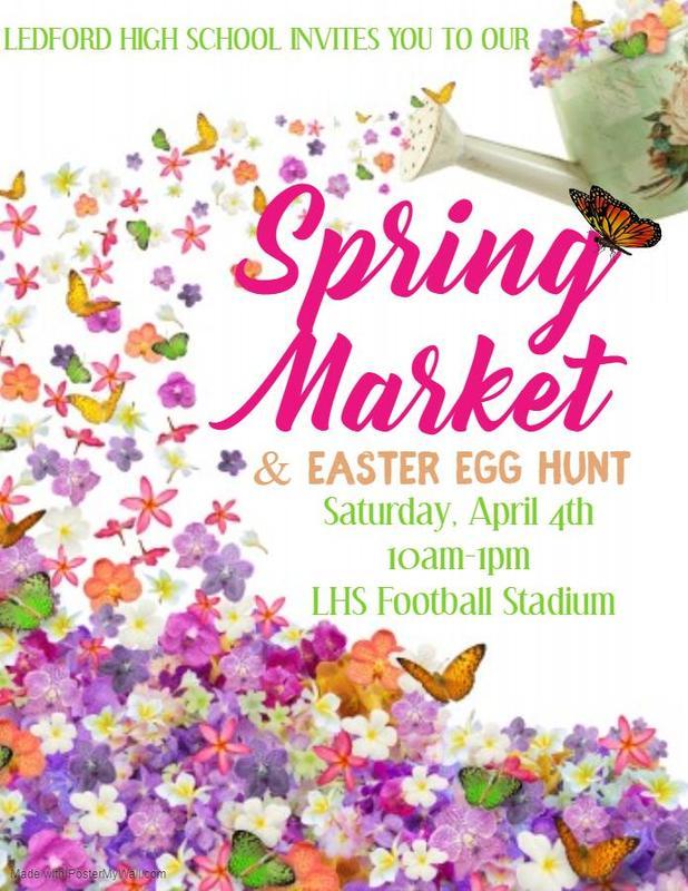 Spring Market and Easter Egg HUnt April 4th