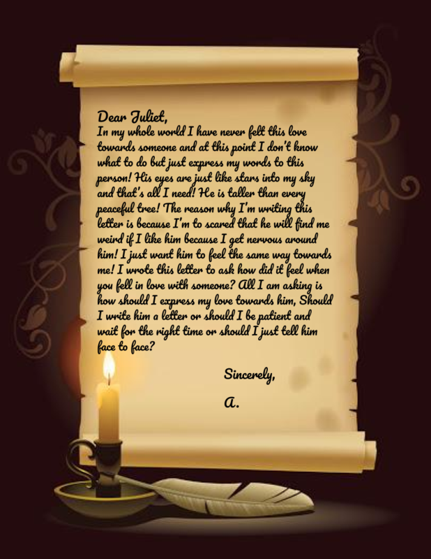 Letter to Juliet from A.