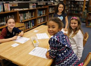 Photo of McKinley 4th graders playing the Respect Scoot Game.