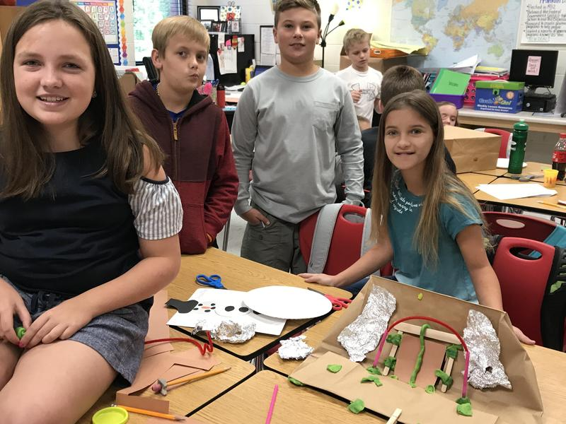 Mrs. Sirmans' Classes Construct Shelters in STEM Activity Featured Photo