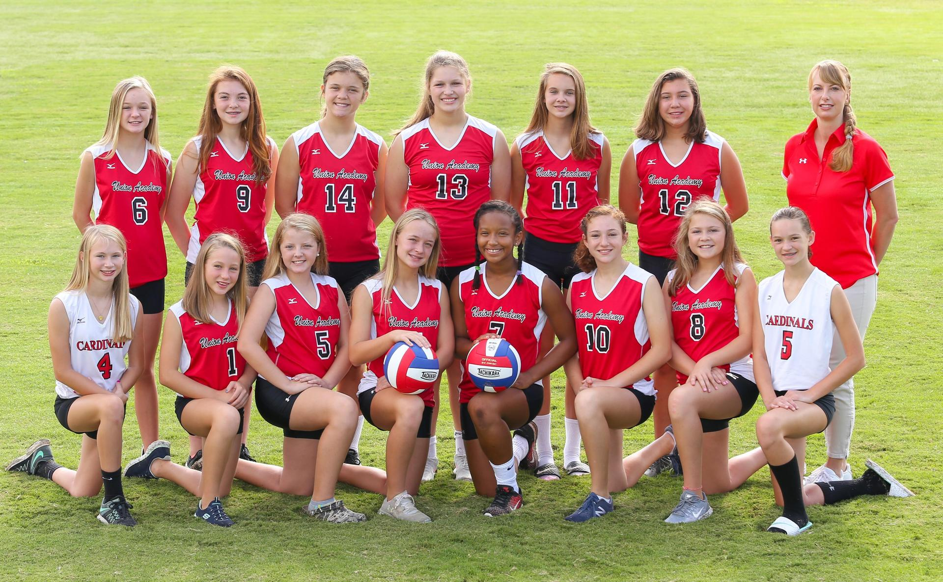 2018-19 MS Girls Volleyball Team