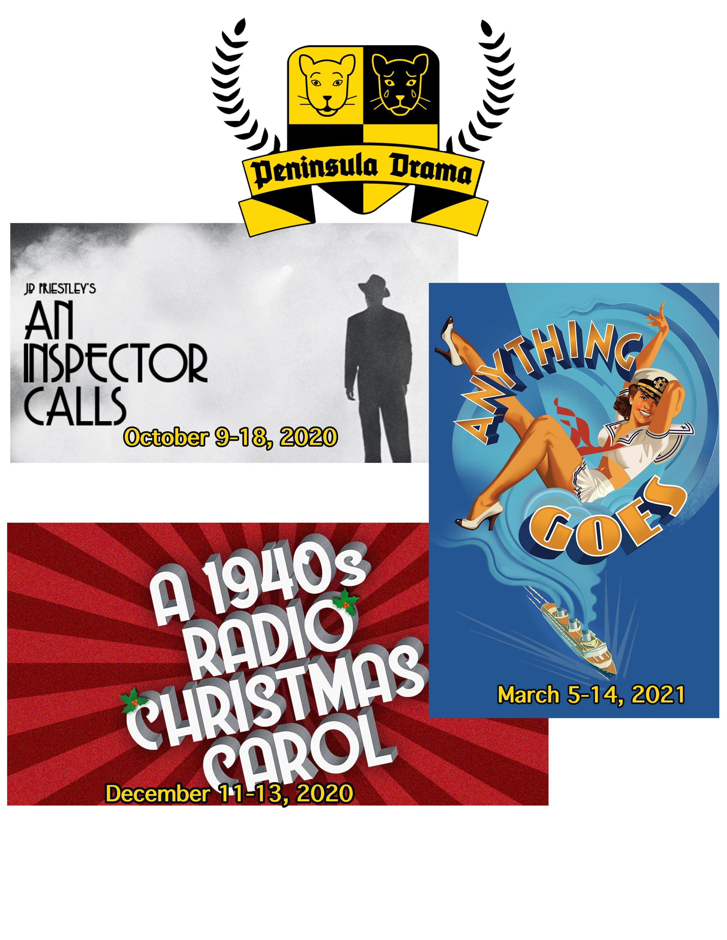 Next season, An Inspector Calls; A 1940s Radio Christmas Carol and Anything Goes