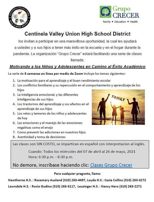 CVUHSD Grupo Crecer Clases/CVUHSD Grupo Crerec Classes Featured Photo