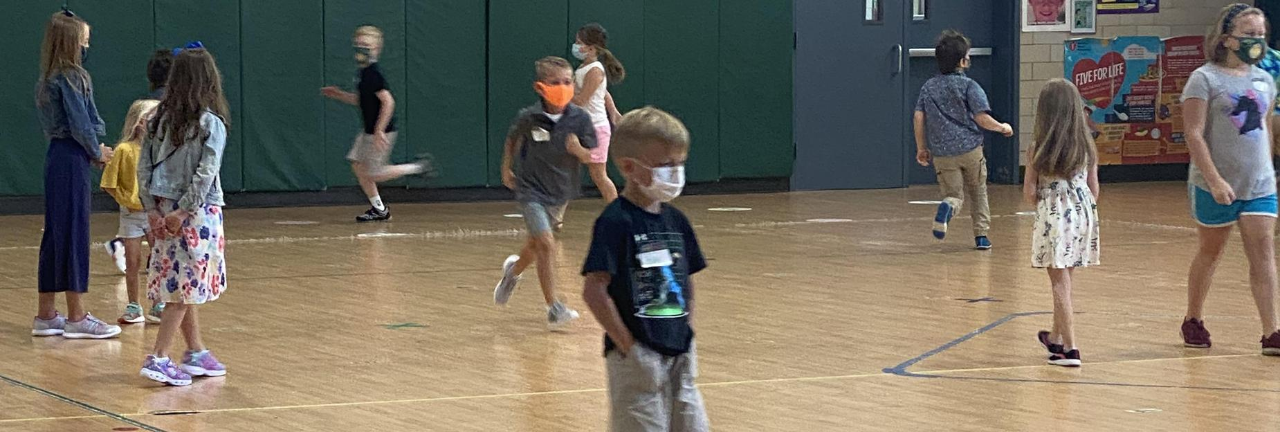 In gym class CCES