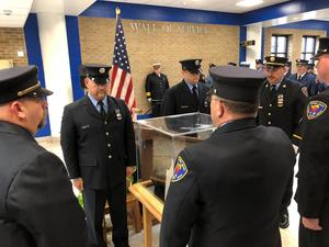 First Responders deliver 9/11 Memorial