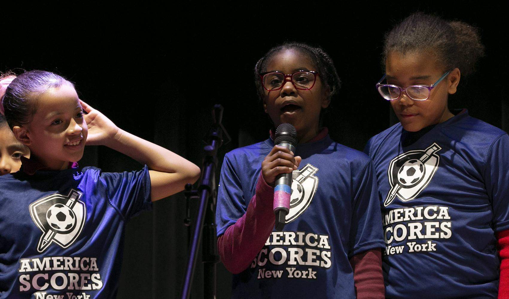 Girls participate in Poetry Slam