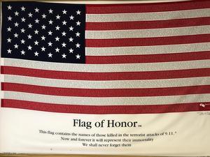 9/11 flag at Xavier