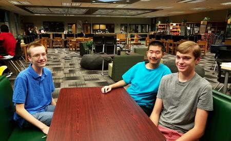 Students enjoy their first day back in the Learning Commons at Greenbrier High School!