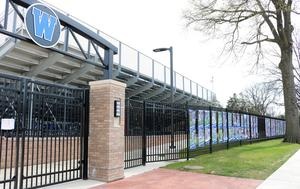 Banners adorn the Rahway Avenue fence of Gary Kehler Stadium, a special tribute to Westfield High School student athletes whose spring season is on hold due to COVID-19 restrictions.