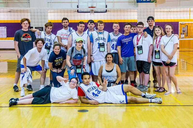 The Unified volleyball team with their friends.