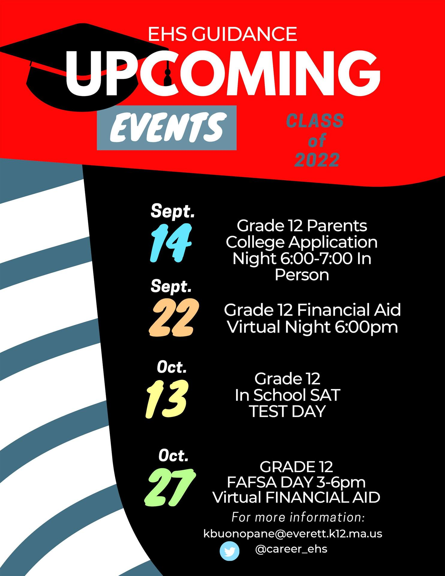 Flyer, all text, against a black and red background