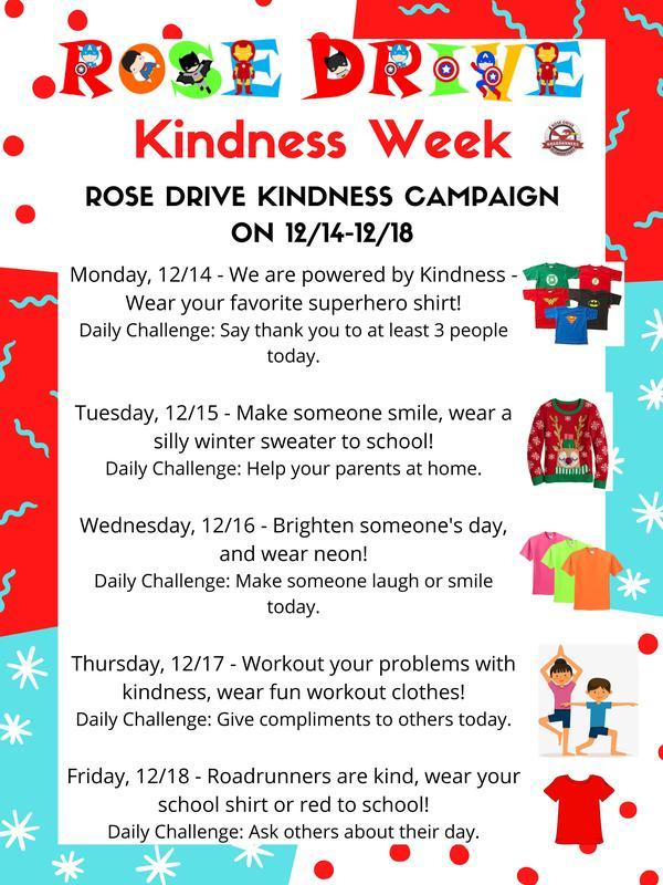 Kindness Week 12/14-12/18