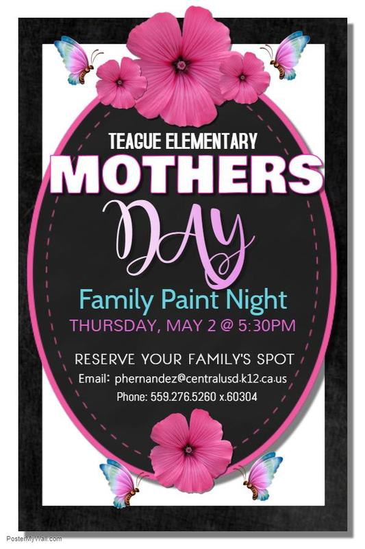 Paint Night May flyer