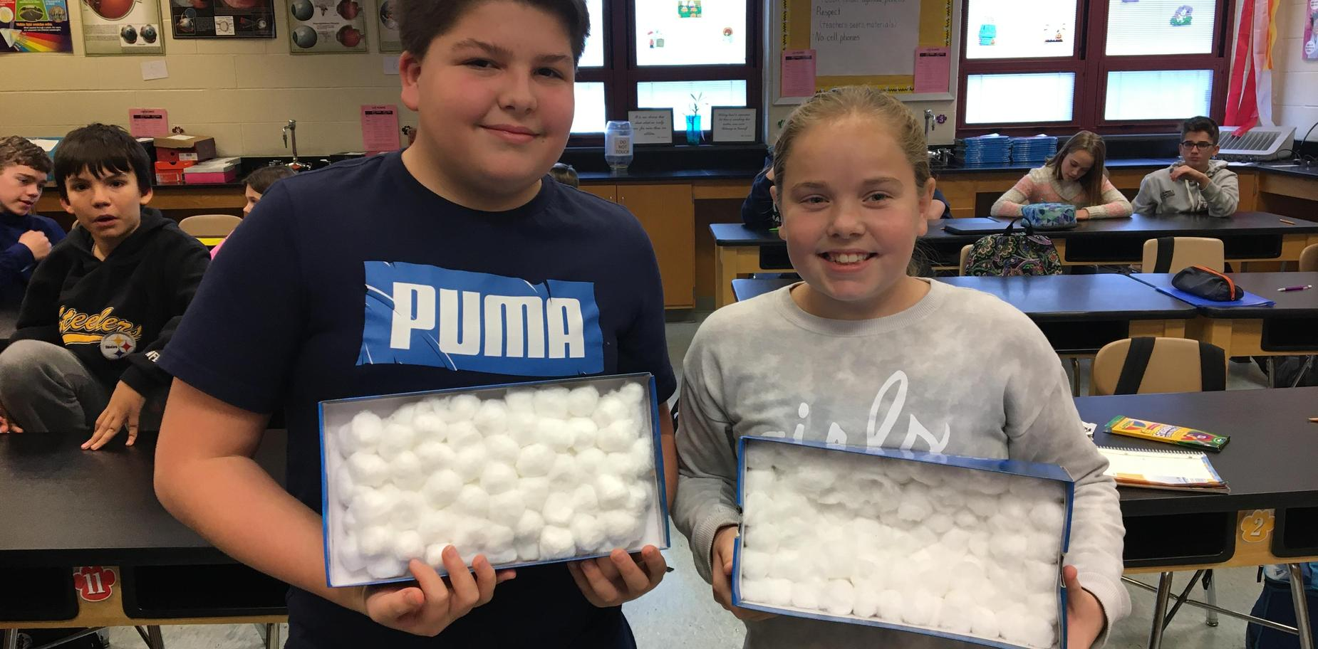Students with STEM projects