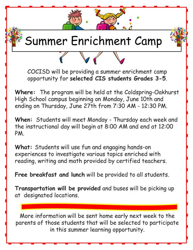 Enrichment Camp Flyer