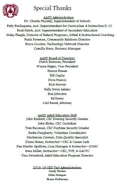 Page 4 Adult Education Recognition