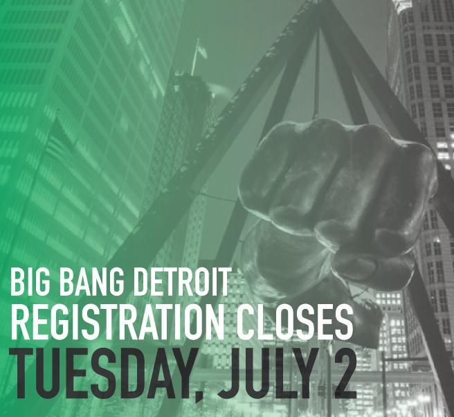 Big Bang Registration Ends Tuesday, July 2 Featured Photo