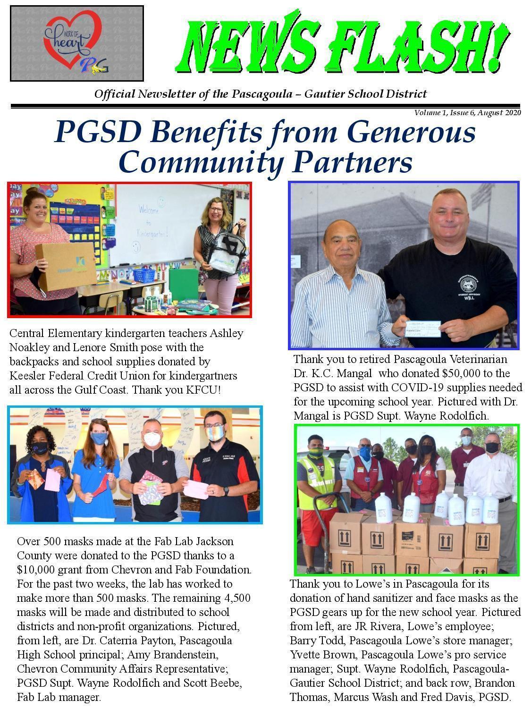 Vol. 1, Issue 6, Donations KFCU, Dr. Mangal, Lowes, Chevron, FAB Lab