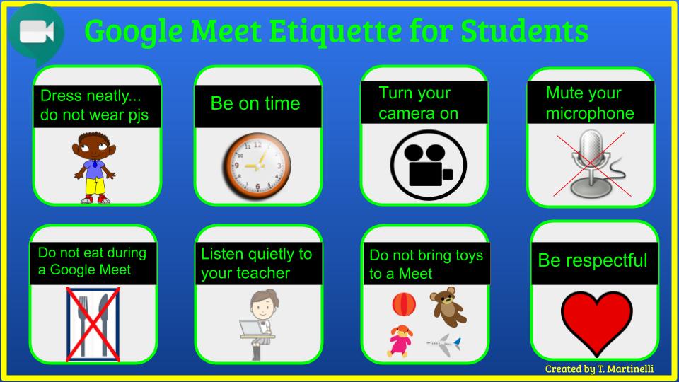 Google Meet Etiquette pictures