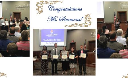 Congratulations Ms. Simmons top 5 TOTY finalist