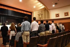 Class of 2020 during their class mass