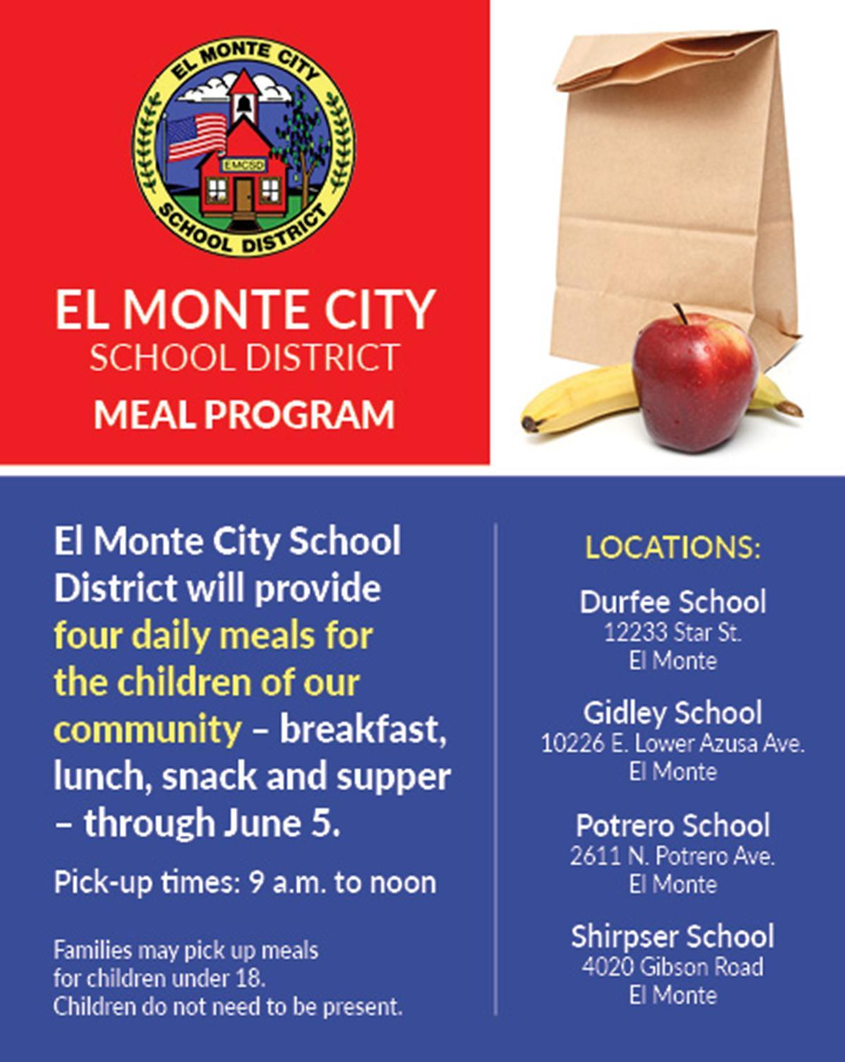 Meal program at a glance