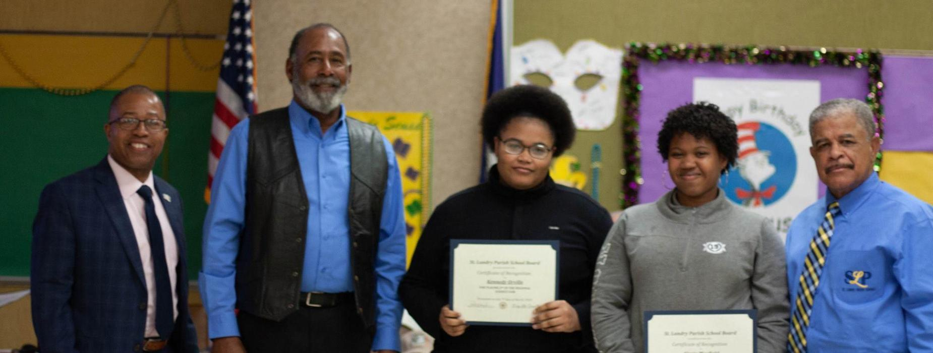 superintendent gives recognition