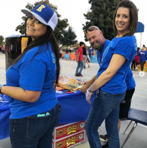 wms staff working at the annual fall carnival