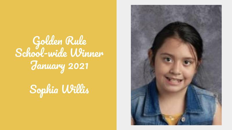 Golden Rule Student of the Month - January Featured Photo