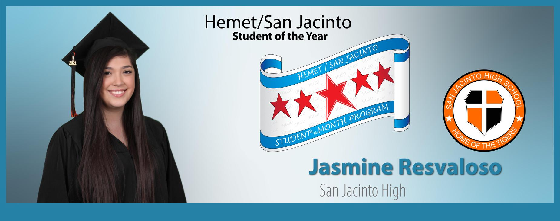 Jasmine Resvaloso Student of the Year