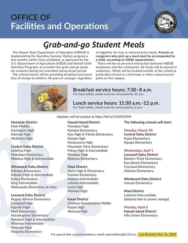'Grab-and-Go' meals are coming to more Hawaii public schools Featured Photo