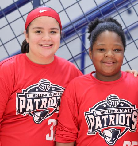 Picture of two girls in sports uniform