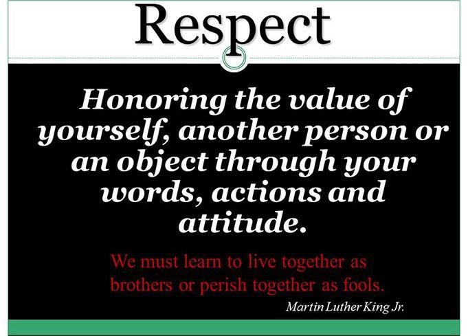 Core Value- Respect