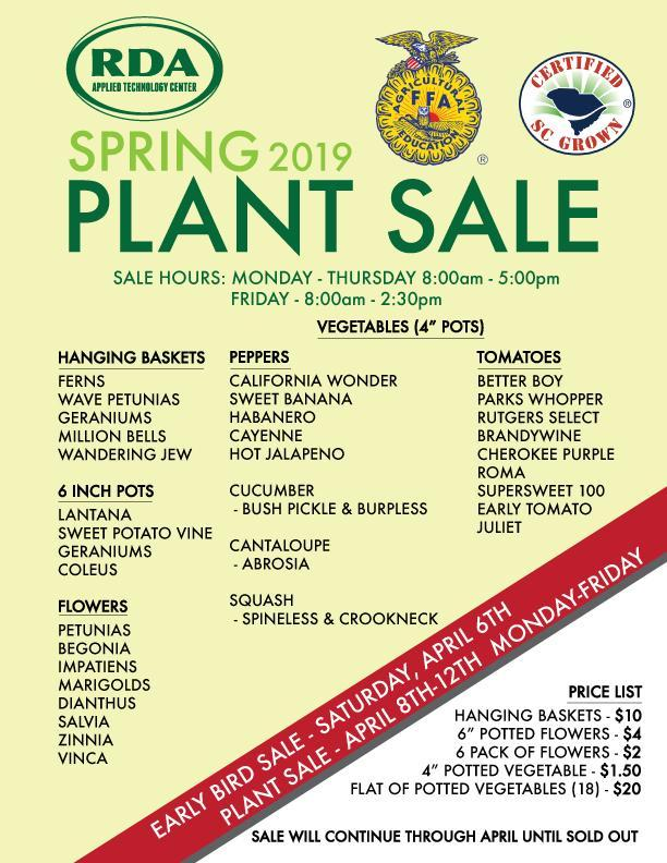 This is a flyer about the plant sale. The information is in the body of the article.