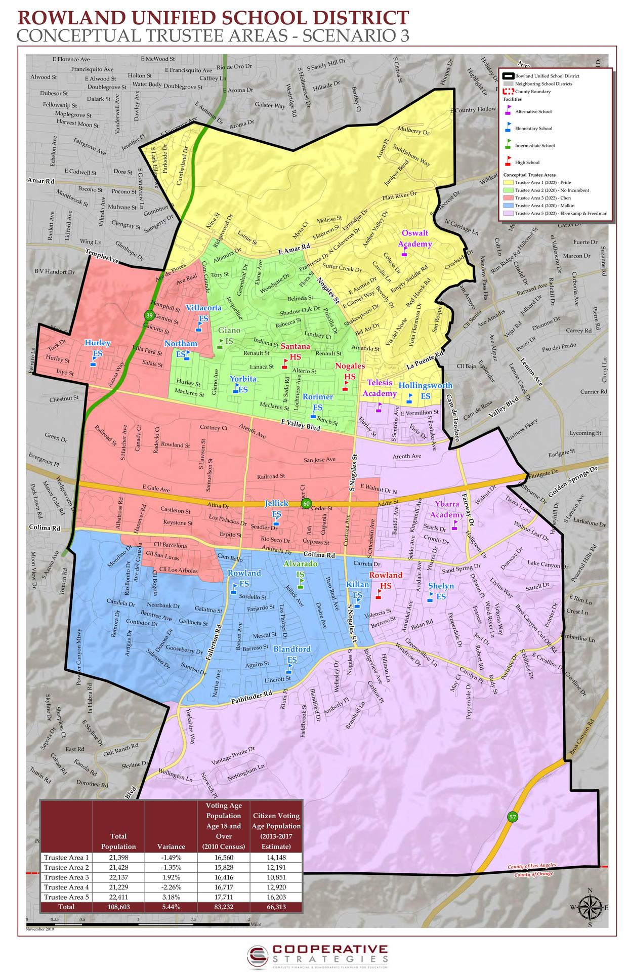 RUSD Trustee Area Map