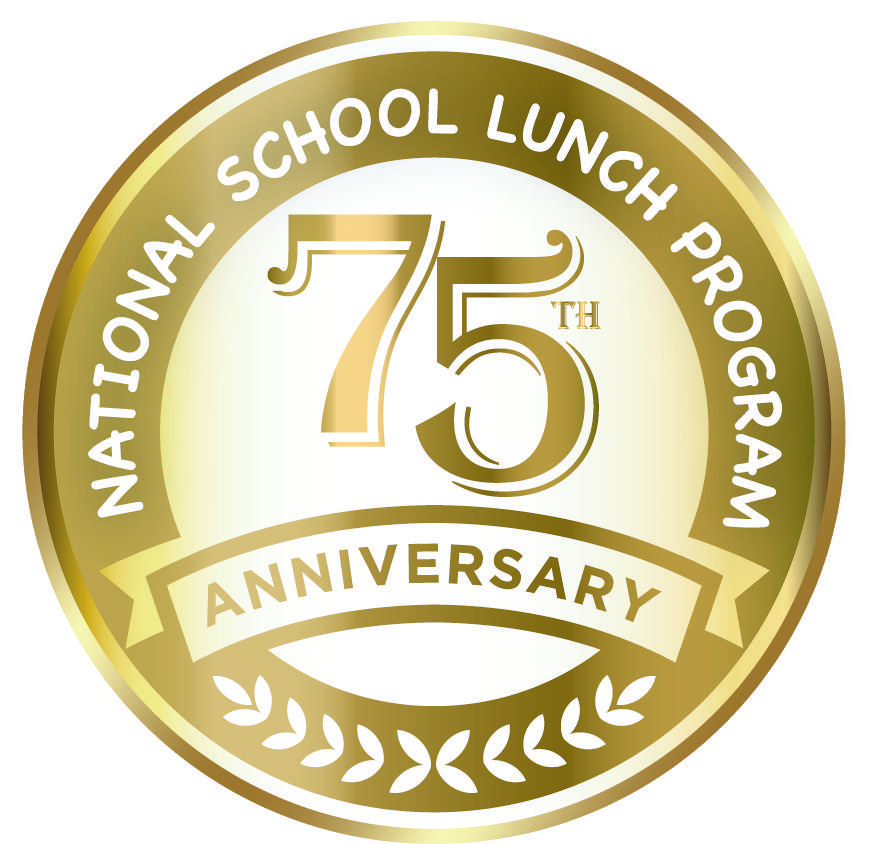 national school lunch program 75th anniversary banner