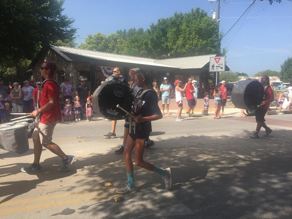 Wimberley High School Band in 4th of July Parade