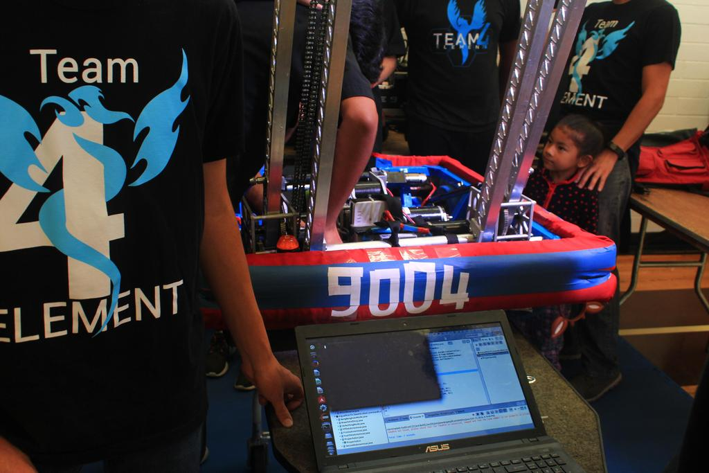 Practice robot in pit
