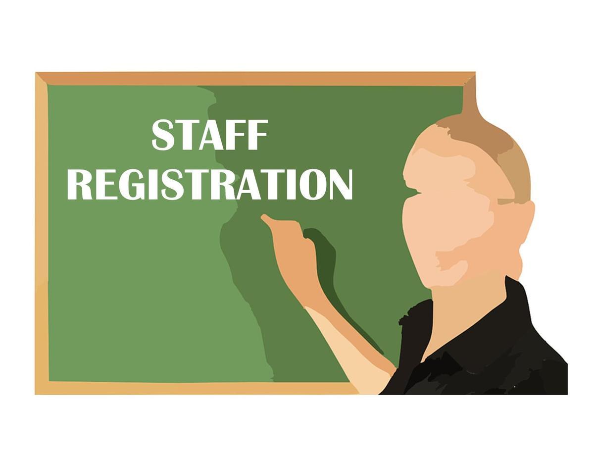 teacher graphic staff registration words