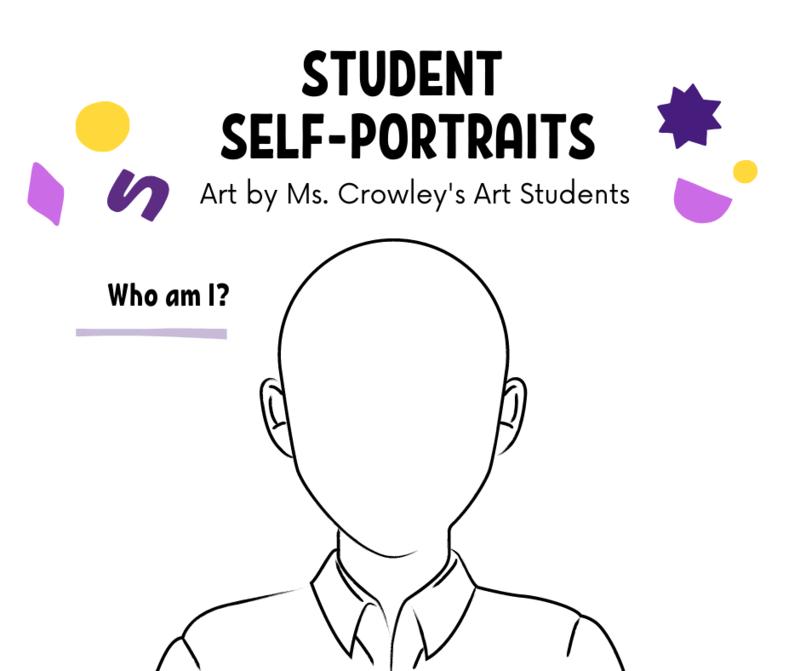 Art Class: Student self-portraits. Featured Photo