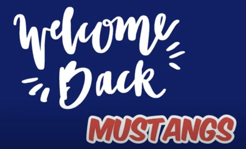 Welcome Back Mustangs logo