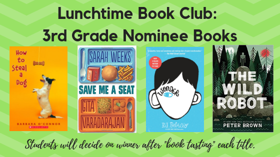 3rd Grade Book Club Nominees