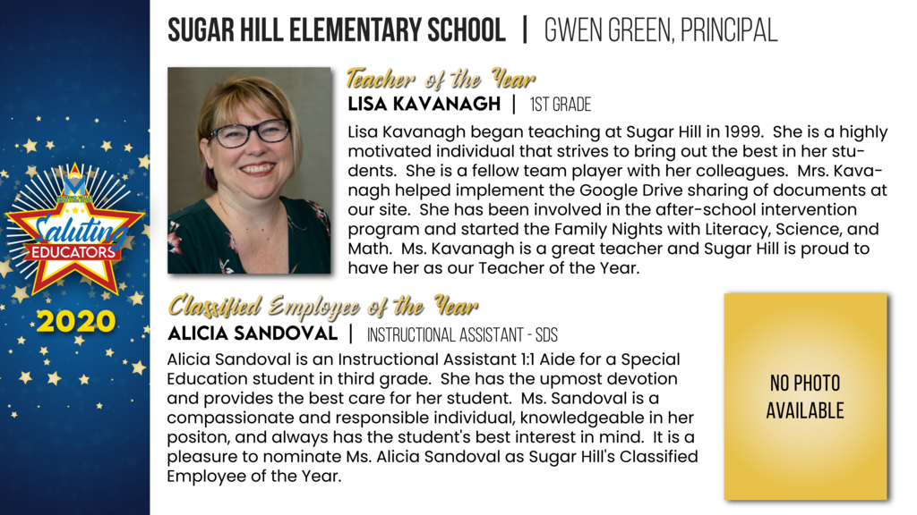 Sugar Hill Elementary Employees of the Year