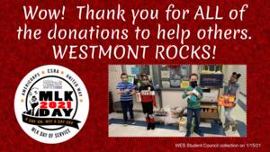 WES MLK donation