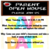 Open House Tuesday, March 19 5:30-7:30 PM