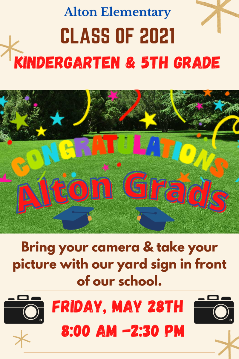 Kinder & 5th Grade Yard Sign Pictures Featured Photo