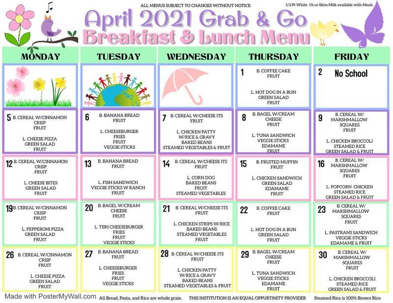 April Grab & Go Menu