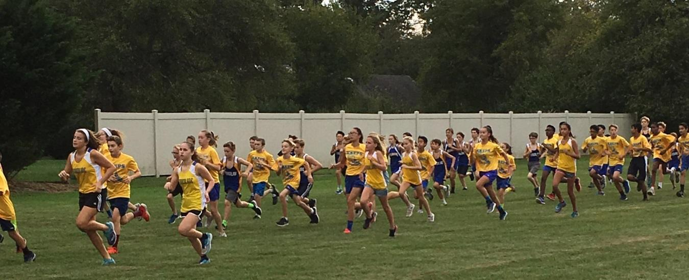 TMS students at cross country meet