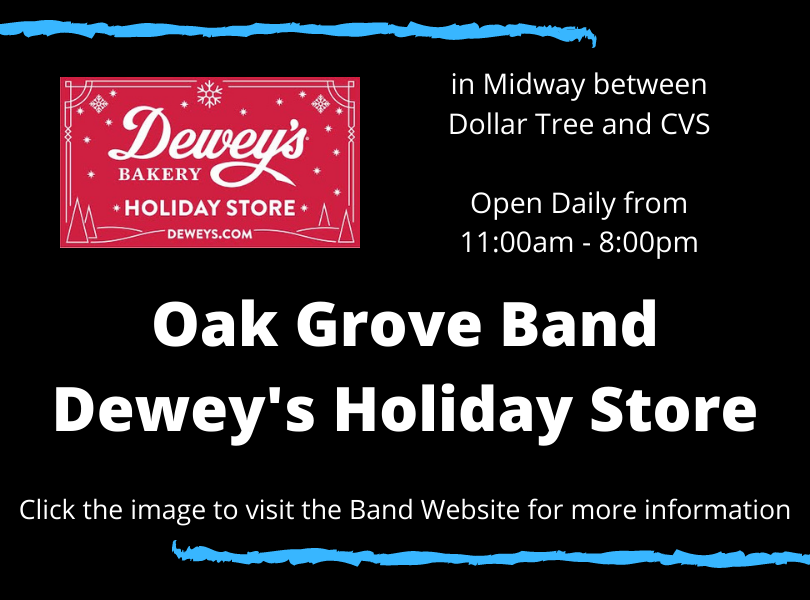 Dewey Holiday Store open