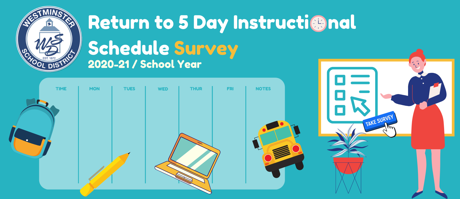 Return to 5 Day Instructional Schedule Survey